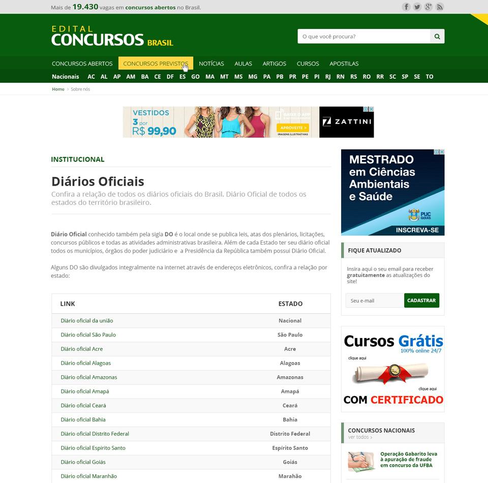 Edital Concursos